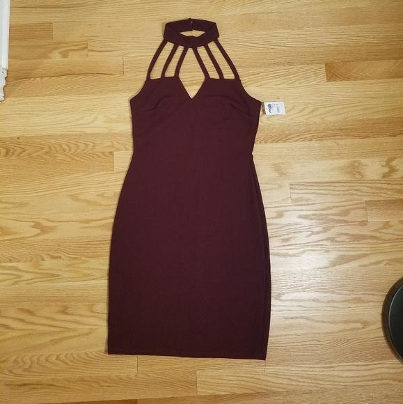 600f65030d16 Charlotte Russe Dresses | Mock Neck Lattice Bodycon Dress | Poshmark